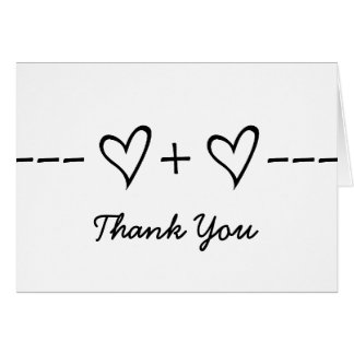 Ebony Heart Equation Thank You Card