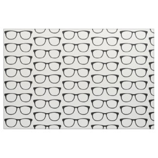 Ebony Hipster Geek Glasses Fabric