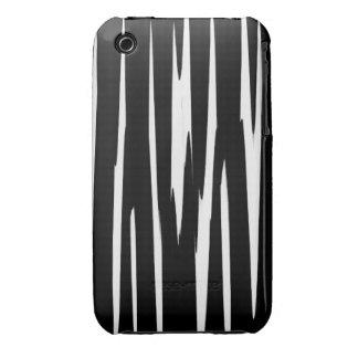 EBONY & IVORY in the first (zebra stripe art) ~ iPhone 3 Case-Mate Case