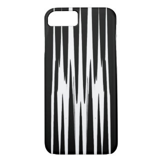 EBONY & IVORY (zebra stripe abstract art) ~ iPhone 7 Case