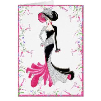 Ebony Lady Card