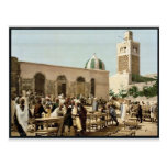 Ebony market, Tunis, Tunisia vintage Photochrom Postcard