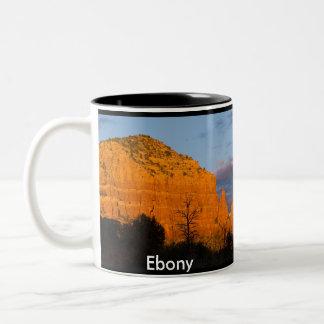 Ebony on Moonrise Glowing Red Rock Mug