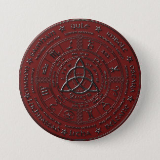 Ebony Ruby Celtic Zodiac Button