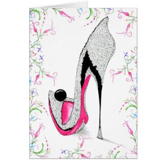 Ebony Shoe Card
