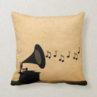 Ebony Vintage Gramophone Pillow