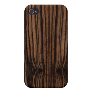 Ebony Wood Grain iPhone Case Covers For iPhone 4