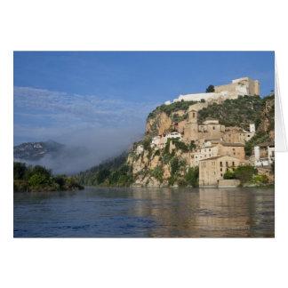 Ebro River (Ria Ebre); Templar castle;  early Card
