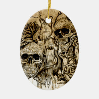 EB's  Skull Designs Christmas Ornament