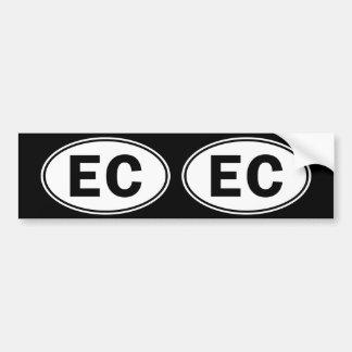 EC Oval Identity Sign Bumper Sticker