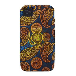 EC Royal Blue Paisley iPhone 4 Covers