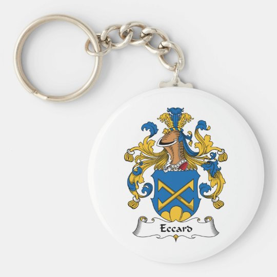 Eccard Family Crest Basic Round Button Key Ring