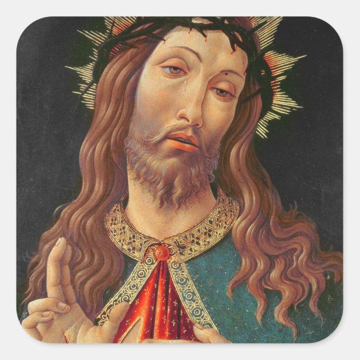 Ecce Homo, or The Redeemer, c.1474 Square Sticker