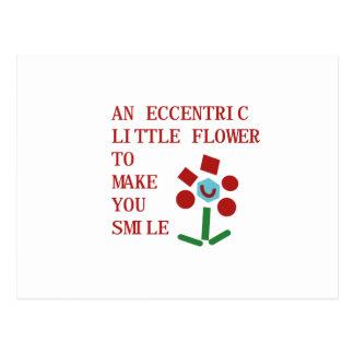 Eccentric Flower Postcard