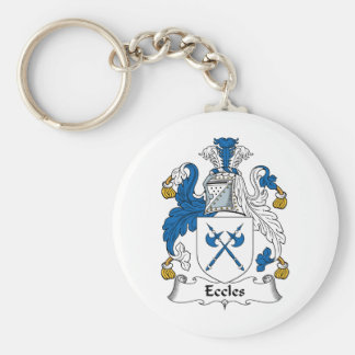Eccles Family Crest Key Ring