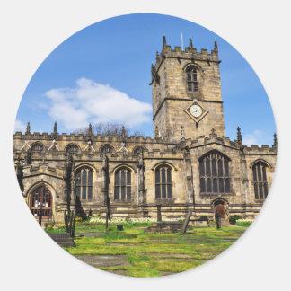 Eccles field church sheffield classic round sticker