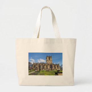 Eccles field church sheffield large tote bag