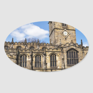 Eccles field church sheffield oval sticker