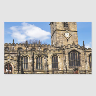 Eccles field church sheffield rectangular sticker