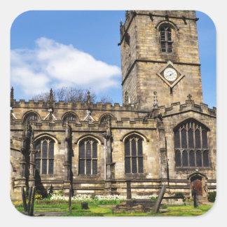Eccles field church sheffield square sticker