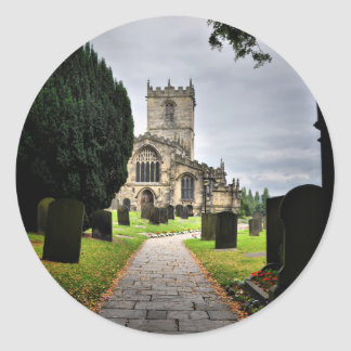 ecclesfield church classic round sticker
