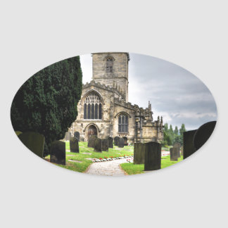 ecclesfield church oval sticker