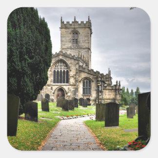 ecclesfield church square sticker