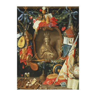 Ecclesia Surrounded by Symbols of Vanity Canvas Print