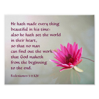 Ecclesiastes 3:11 Everything beautiful in His time Poster