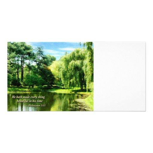 Ecclesiastes 3 11 He Hath Made Everything Beautifu Customized Photo Card