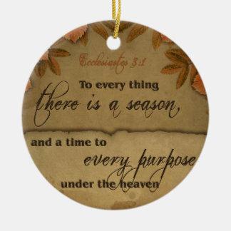 Ecclesiastes 3:1 Scripture Art Gifts Christmas Ornament