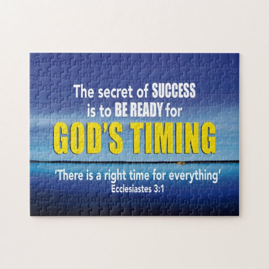 Ecclesiastes 3:1 TIME FOR EVERYTHING Christian Jigsaw ...