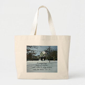 Ecclesiastes 3:1 To every thing there is a season Jumbo Tote Bag