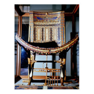 Ecclesiastical chair from the tomb of post card