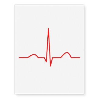 ECG or electrocardiogram of heart rhythm pattern