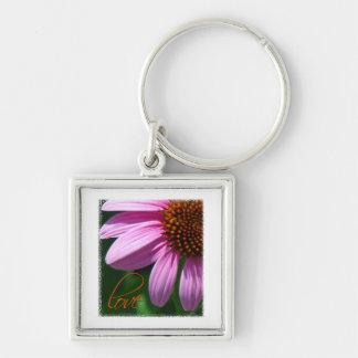 Echinacea Love Square Keychain