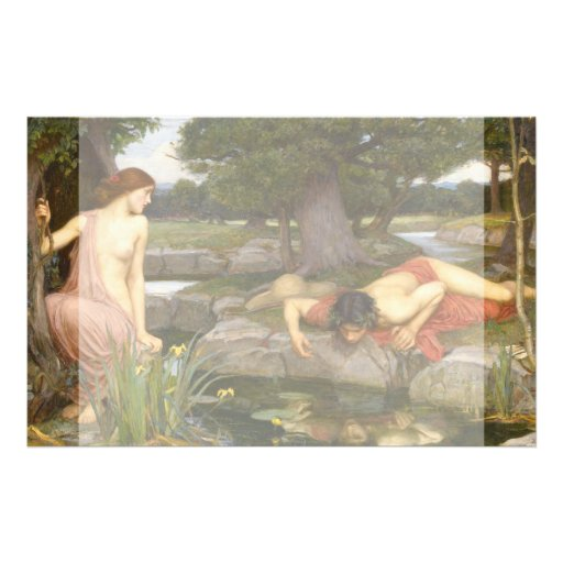 Echo and Narcissus by John William Waterhouse Full Color Flyer