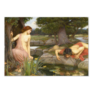 Echo and Narcissus by John William Waterhouse Personalized Announcement Cards