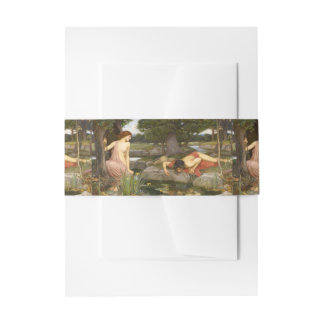 Echo and Narcissus by John William Waterhouse Invitation Belly Band