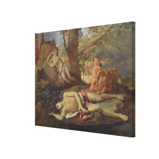 Echo and Narcissus Canvas Print