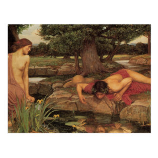 Echo and Narcissus fine art Post Cards