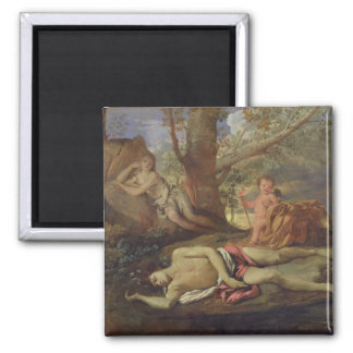 Echo and Narcissus Square Magnet