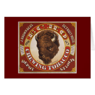 Echo Chewing Tobacco - King Buffalo Fine Cut Greeting Card