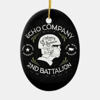 Echo Company 2nd Battalion 54th Infantry Regiment Ceramic Oval Decoration