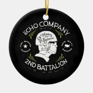 Echo Company 2nd Battalion 54th Infantry Regiment Round Ceramic Decoration