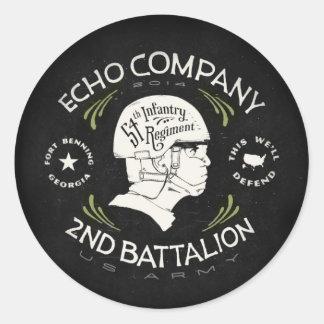 Echo Company 2nd Battalion 54th Infantry Regiment Round Sticker