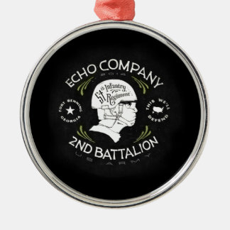 Echo Company 2nd Battalion 54th Infantry Regiment Silver-Colored Round Decoration
