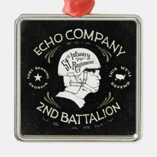Echo Company 2nd Battalion 54th Infantry Regiment Silver-Colored Square Decoration
