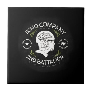 Echo Company 2nd Battalion 54th Infantry Regiment Small Square Tile