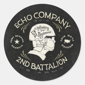 Echo Company 2nd Battalion 54th Infantry Regiment Sticker